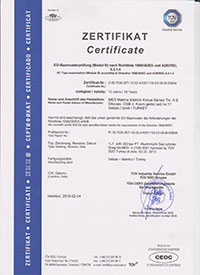 1-l. Alüminyum Dalış Tüpü Sertifikası