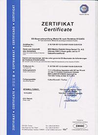 11,1 l. Alüminyum Dalış Tüpü Sertifikası